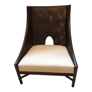 Barbara Barry by McGuire Caned Arm Chair For Sale