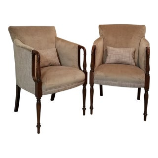 20th Century Traditional Accent Chairs - a Pair For Sale