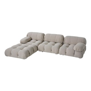 1970s Camaleonda Modular Sofa in Grey Boucle by Mario Bellini For Sale