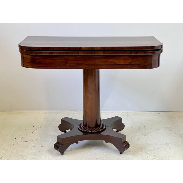 English 19th Century English Regency Rosewood Games Table For Sale - Image 3 of 13