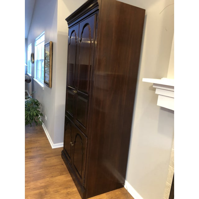 Traditional Ethan Allen Georgian Court Solid Cherry Armoire For Sale - Image 3 of 11