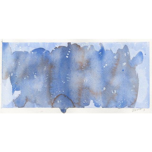 "Original ""Amethyst"" Watercolor Paintings - Set of 3 For Sale - Image 5 of 5"