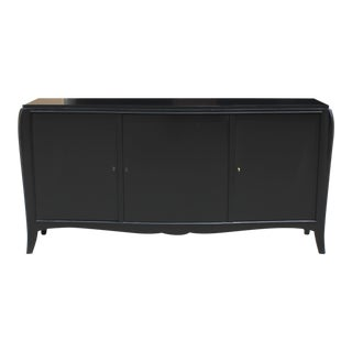 Classic French Art Deco Ebonized Sideboard / Credenza / Buffet 1940s