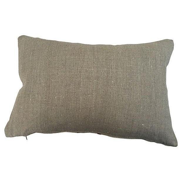 English Grain Sack Pillows - Pair - Image 3 of 4
