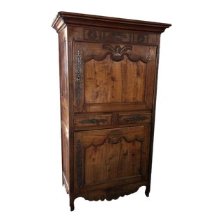 Antique 18th Century Fruitwood Bonnetiere