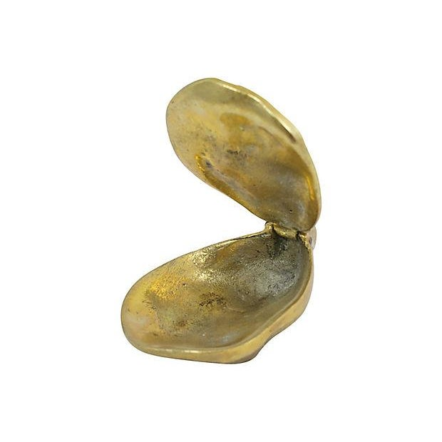 Antique Brass Oyster Shell Trinket Box For Sale - Image 4 of 6