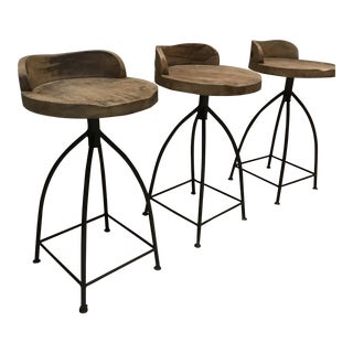 Arteriors Home Wood Swivel Bar Stools