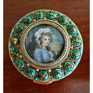 Early 19c French Gold Box With Enamel and Miniature Portrait Preview