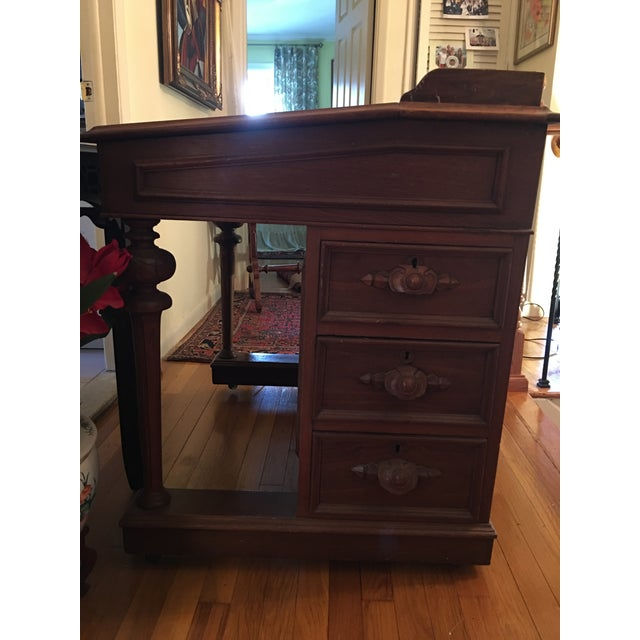 Late 19th Century 19th Century Victorian Walnut Davenport Desk For Sale - Image 5 of 8