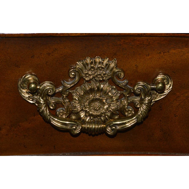 Wood Maitland Smith Mahogany Chippendale Dresser Chest Commode For Sale - Image 7 of 13