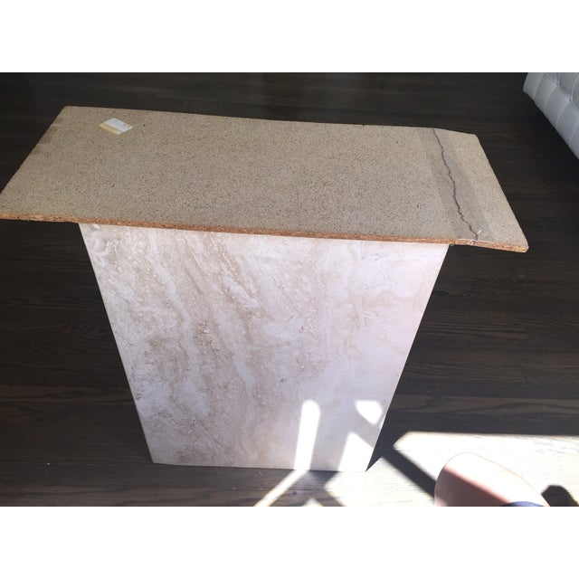 Italian Travertine Marble Console Table - Image 7 of 8