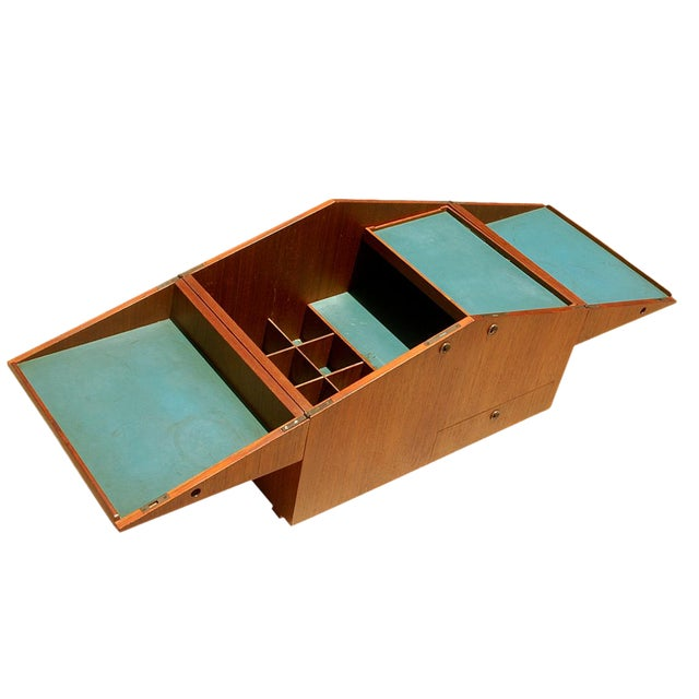 Mid Century Modern Bar Case Cubic Table By Dyrlund - Image 1 of 3