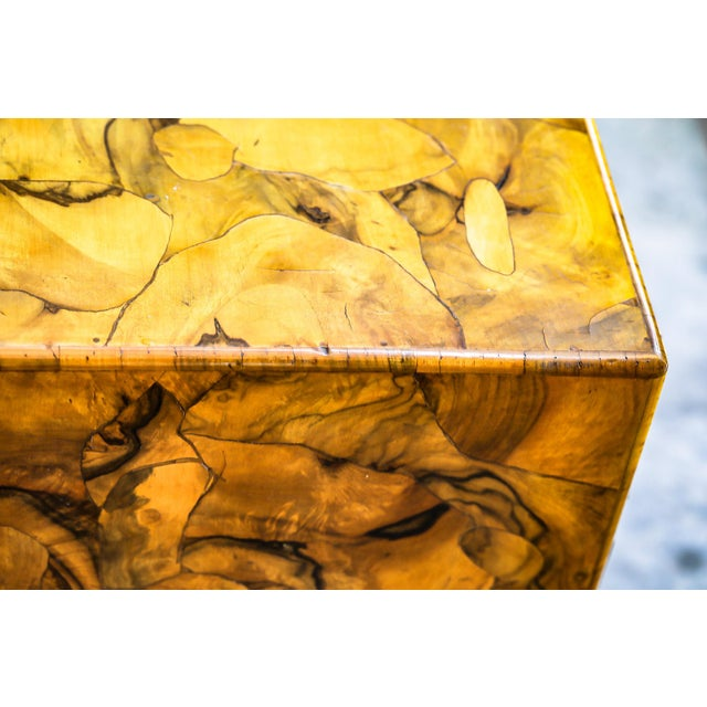 Mid-Century Modern Olive Wood Chest of Drawers For Sale - Image 4 of 9