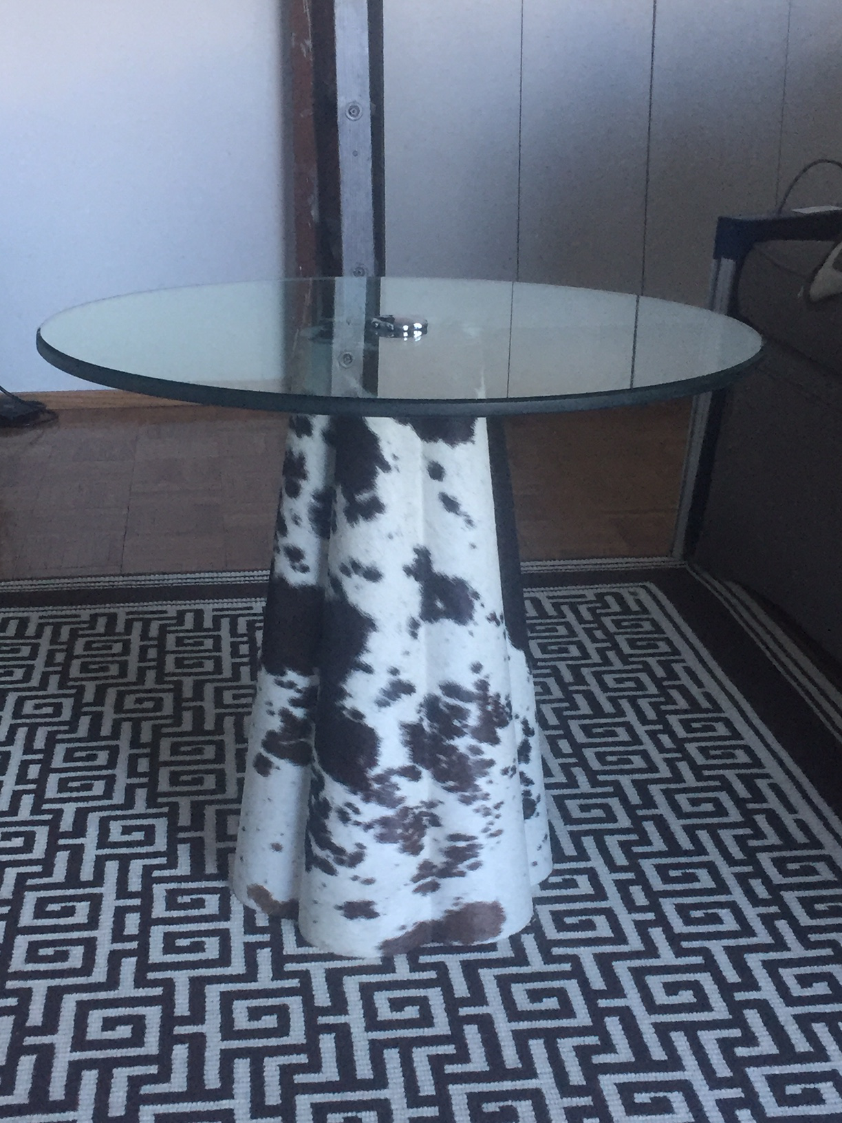 Jayson Home Cowhide Table For Sale   Image 4 Of 5