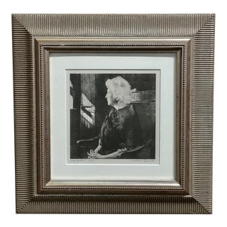 "Original 1967 ""Portrait of Henrietta"" Etching Print by Andrew Wyeth For Sale"