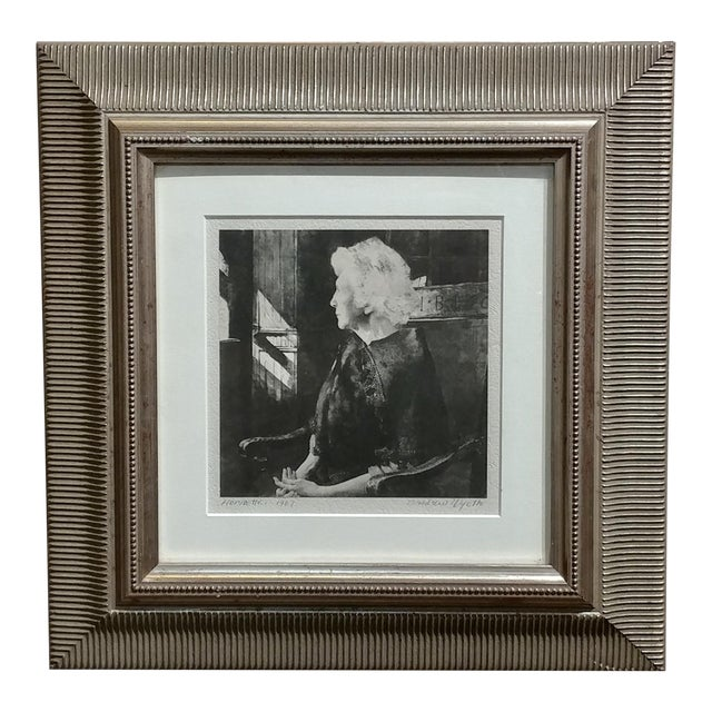 "Original 1967 ""Portrait of Henrietta"" Etching Print by Andrew Wyeth For Sale"