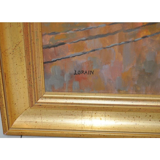 Canvas San Francisco Oil Painting by Lorain For Sale - Image 7 of 8