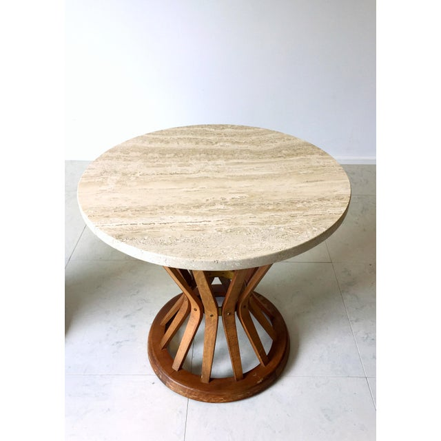 Edward Wormley for Dunbar Wheat Tables - Pair - Image 6 of 6