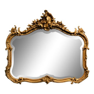 Antique French Giltwood Mirror For Sale