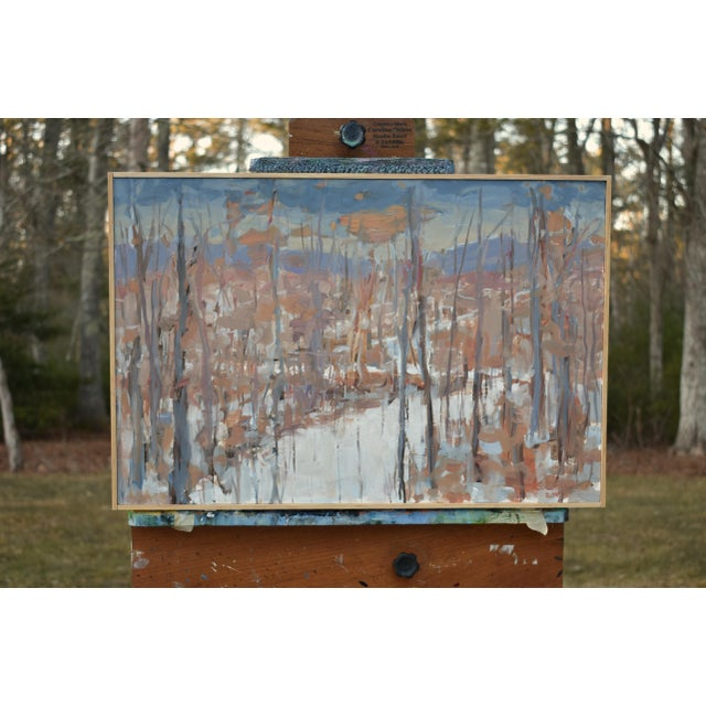 """""""Vermont Memory"""" Contemporary Abstract Landscape Acrylic Painting by Stephen Remick, Framed For Sale - Image 9 of 9"""
