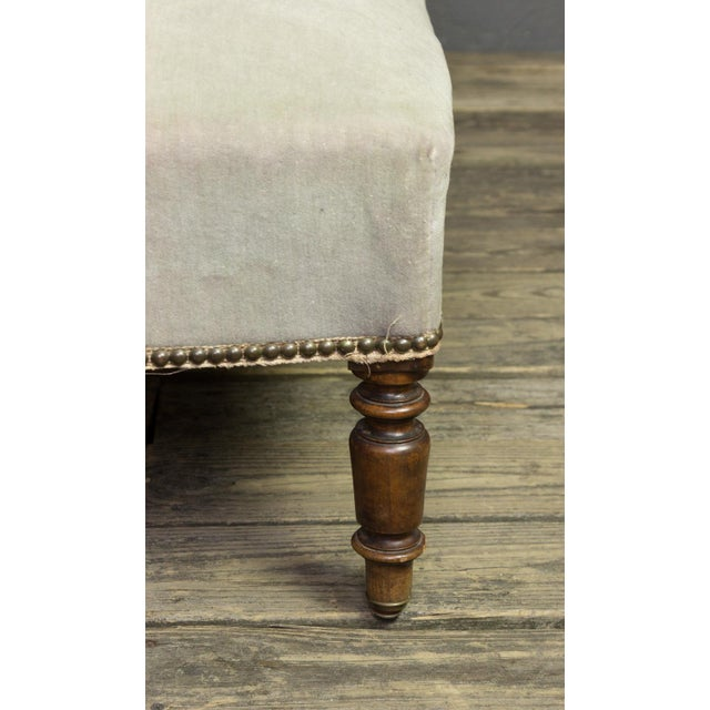 French Faded Lavender Velvet Chaise For Sale - Image 9 of 11