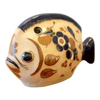 Mexican Craft Art Ceramic Fish Sculpture For Sale