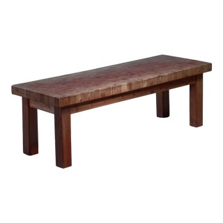 Swedish Pine Bench or End Table, 1960s For Sale