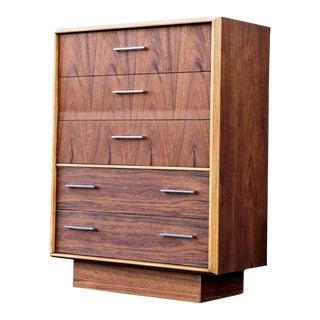 1960s Danish Modern Lane Highboy Dresser For Sale