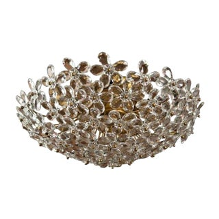 Crystal Faceted Floral Ceiling Light