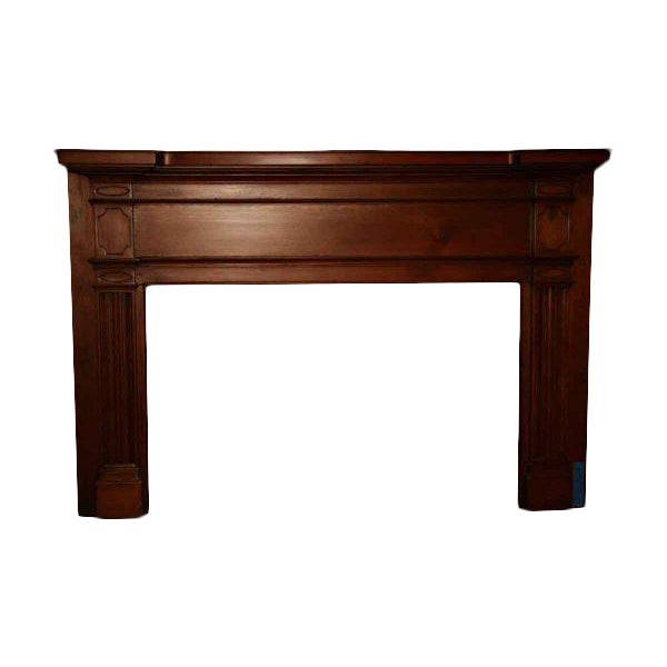 19th Century American Pine Mantel For Sale