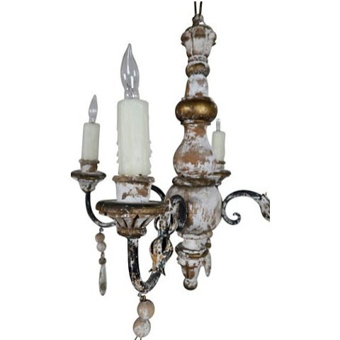 1930s Italian 4-Light Chandelier - Image 2 of 7