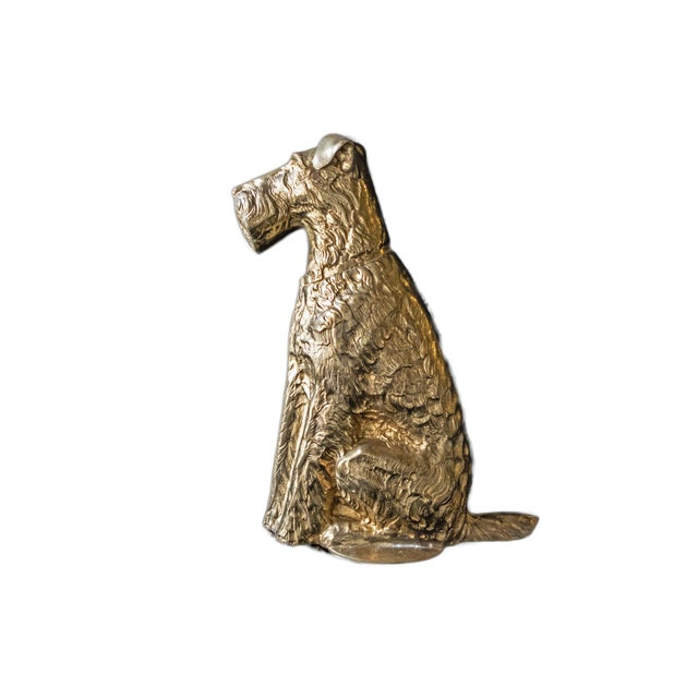 Vintage Maitland Smith Brass Scottish Terrier Doorstop Life Size Statue For Sale - Image 9 of 9