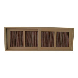 Contemporary Custom Made Wall Mounted Cabinet With Twigs For Sale