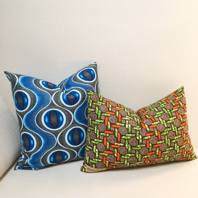African Pillow Covers, Found Object - Pair - Image 2 of 8