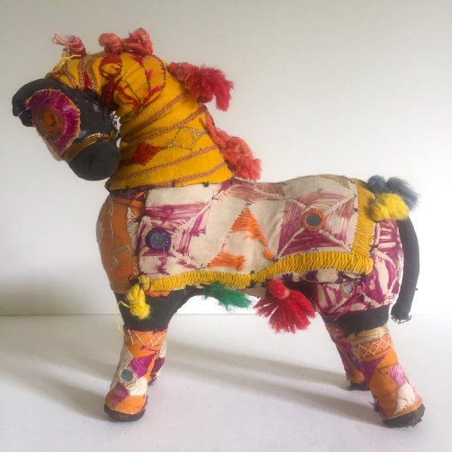 Vintage Indian Patchwork Horse Figurine For Sale - Image 9 of 11