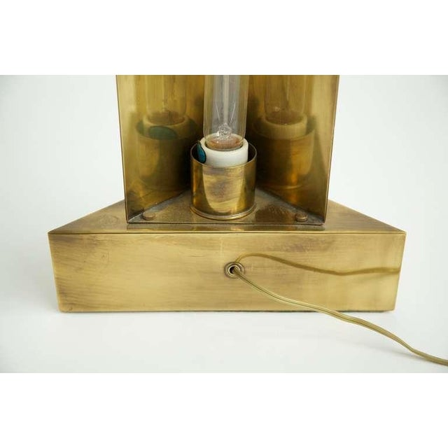 Metal 1960s Brass Hart Associates Tablel Lamps - a Pair For Sale - Image 7 of 7