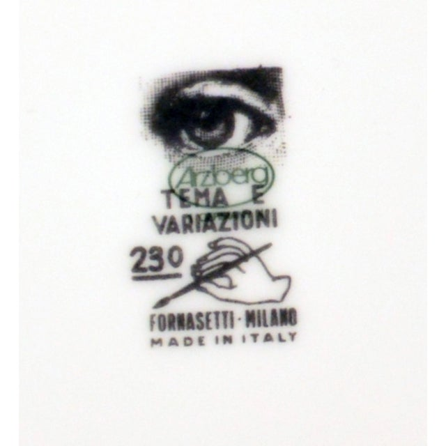 Vintage Piero Fornasetti Tema E Variazioni Plate For Sale In New York - Image 6 of 6