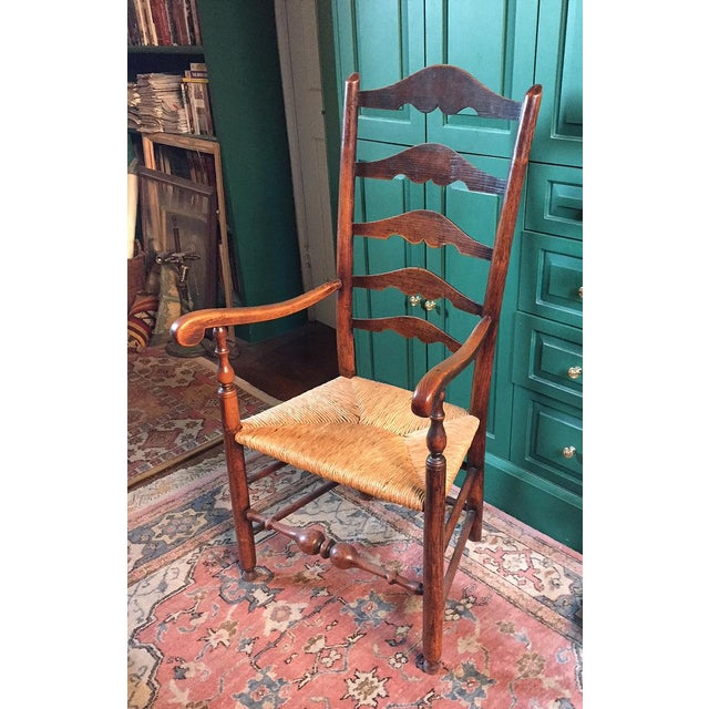 English Ladderback Chair For Sale - Image 4 of 4