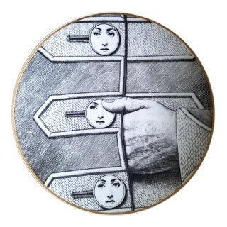 Rosenthal Fornasetti Porcelain Plate, Temi E Variazioni- Themes and Variations, Motiv 13 For Sale