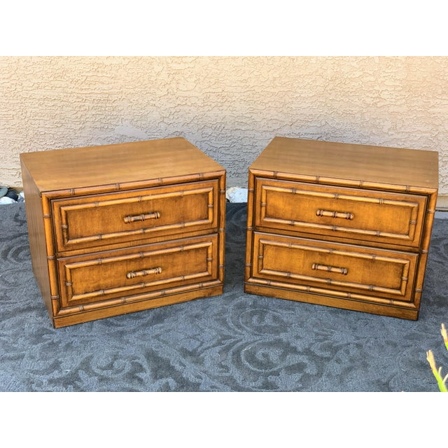 1960s Vintage Faux Bamboo Nightstands- A Pair For Sale In Phoenix - Image 6 of 6