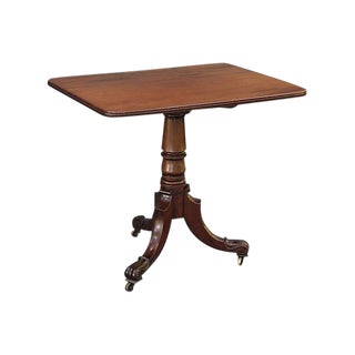 Antique Georgian Tilt-Top Mahogany Table For Sale