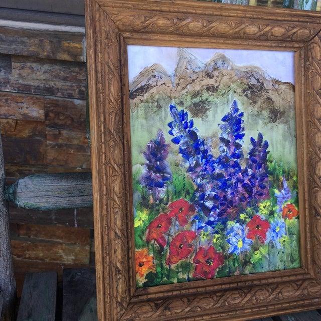 Barbara Gottschling Framed Flowers Painting - Image 3 of 3