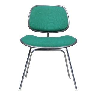 Vintage Ec-127 Dcm Chair Charles Eames Herman Miller Charcoal & Green
