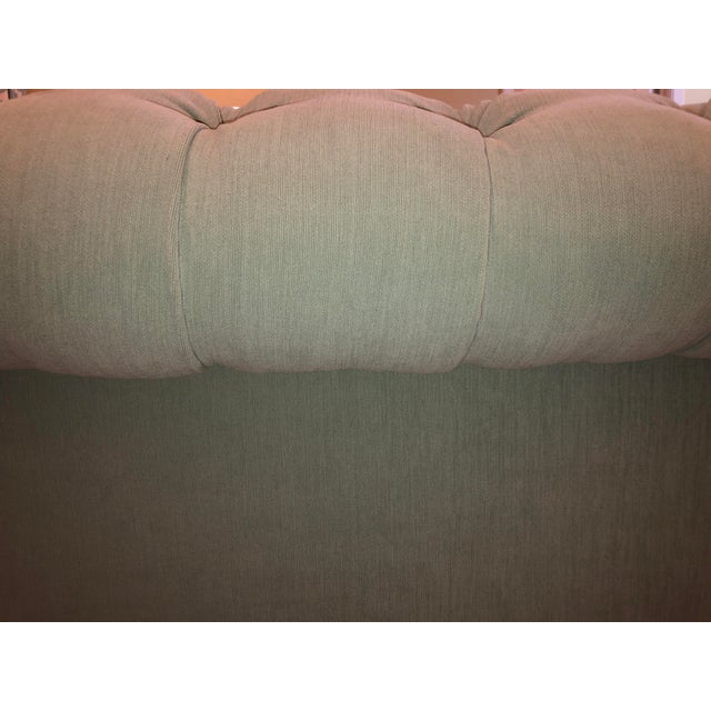 Blue Anthropologie Blue Chesterfield Sofa For Sale - Image 8 of 11