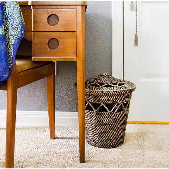 This well-crafted basket is both functional and fabulous with an open weave design around the top. Utilize this storage...
