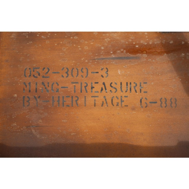 """Brown Vintage Drexel Heritage """"Ming Treasure"""" Square Clawfoot Side Table For Sale - Image 8 of 10"""