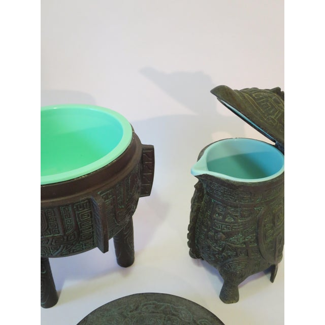 Mayan Motif Ice Bucket & Pitcher - A Pair - Image 8 of 9
