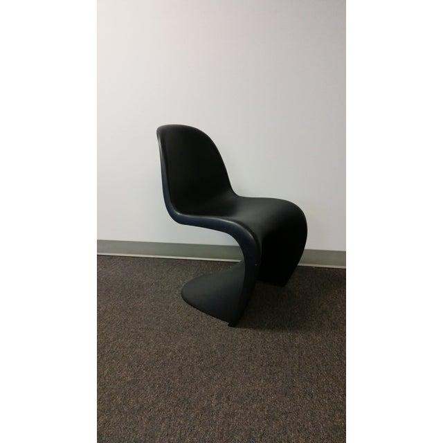 Mid-Century Black Panton Chairs - Pair - Image 3 of 5