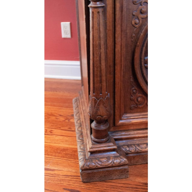 Carved French Oak Cabinet For Sale - Image 11 of 13