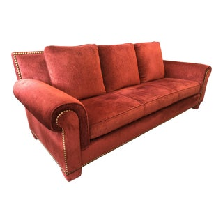 Traditional Randolph & Hein for Marco Fine Furniture Custom Red Sofa